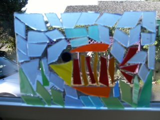 Stained Glass Mosaic Framed