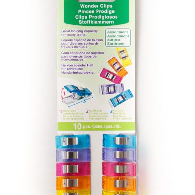 10 piece Wonder Clip set for use with the QuilTak quilt basting system.
