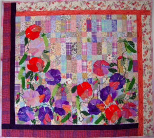 A quilt made using our QuilTak quilt basting system.