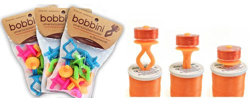 Bobbinis for use alongside our QuilTak quilt basting tools